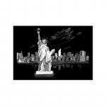 Set gravura  locuri celebre Statuia Libertatii 29x39cm