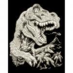 Set gravura pe folie fosforescenta  T-rex
