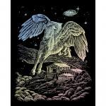 Set gravura pe folie holografica  Pegasus