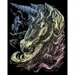 Set gravura pe folie holografica  Unicorni