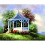 Set pictura artistica pe panza Lac GAZEBO