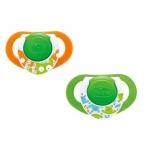 Suzeta Chicco silicon Physio Compact forma ergonomica 16-36 luni 2 buc lumi