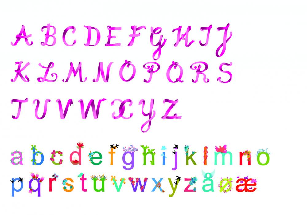 Abibilduri de perete litere fete Djeco