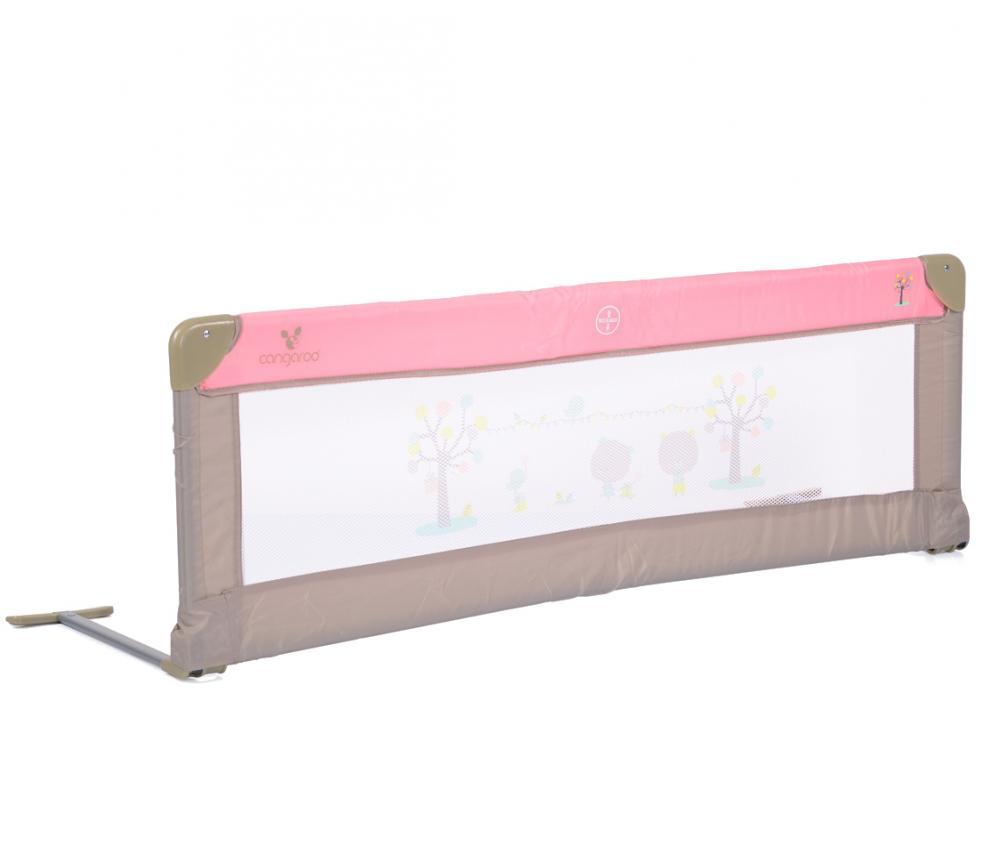 Bariera de protectie pentru pat Bed Rail Cangaroo Pink
