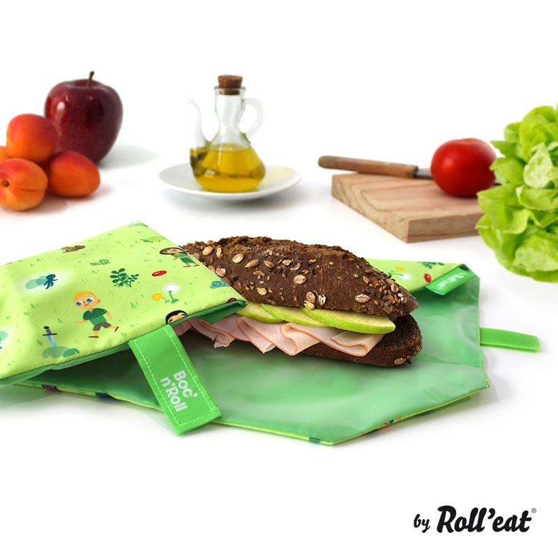Ambalaj Reutilizabil Pentru Sandwich Boc N Roll Kids Forest
