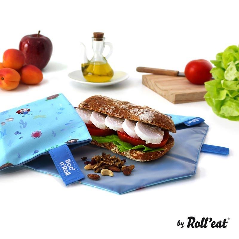 Ambalaj Reutilizabil Pentru Sandwich Boc N Roll Kids Ocean