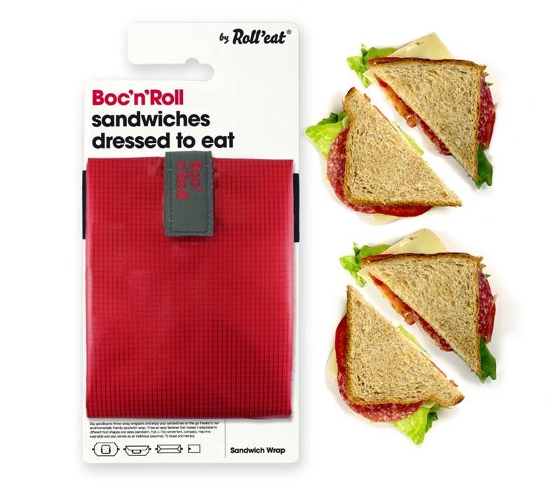 Ambalaj reutilizabil pentru sandwich Boc n Roll Square rosu