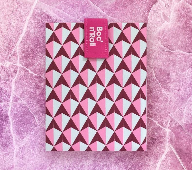 Ambalaj reutilizabil pentru sandwich Boc n Roll Tiles roz