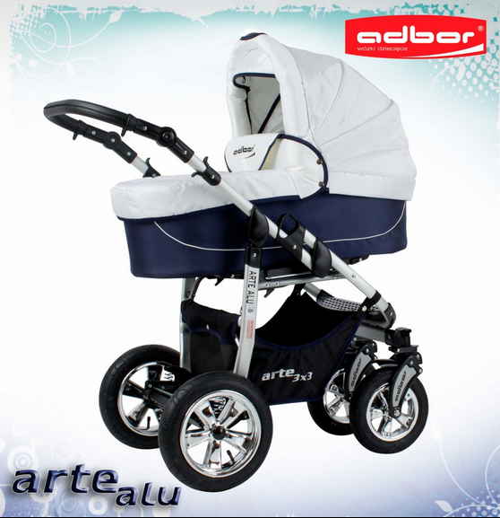 Carucior 3 in 1 Adbor Arte Alu 3X3 adb50