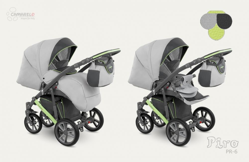 Carucior copii 2 in 1 Piro 2017 Camarelo color PR-6