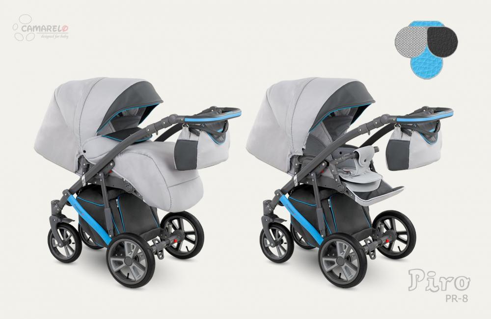 Carucior copii 2 in 1 Piro 2017 Camarelo color PR-8