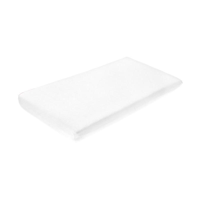 Cearceaf de bumbac cu elastic 120x60 cm White