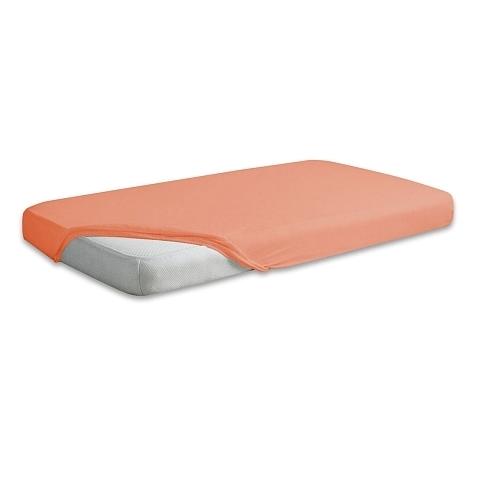 Cearceaf jerse din bumbac cu elastic 120×60 cm Peach 08 din categoria Camera copilului de la Baby Matex