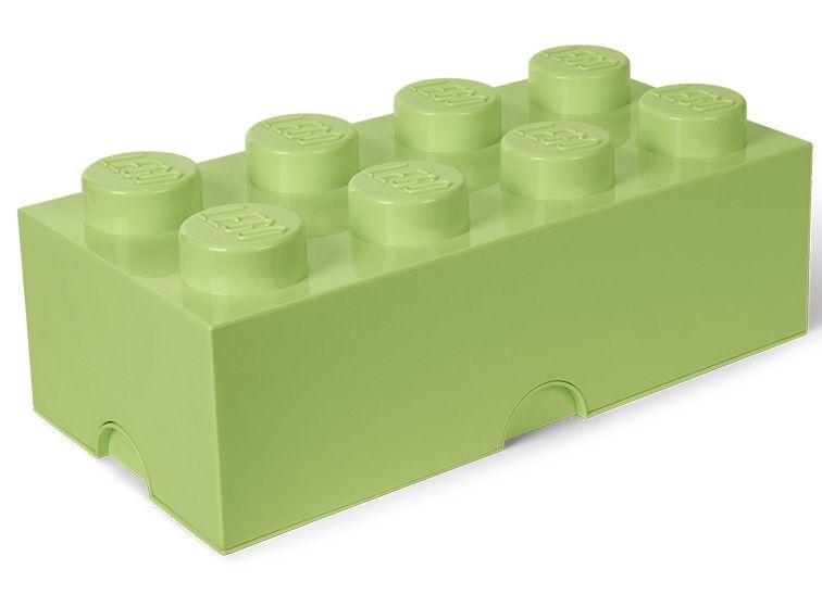 Cutie depozitare Lego 2x4 verde fistic