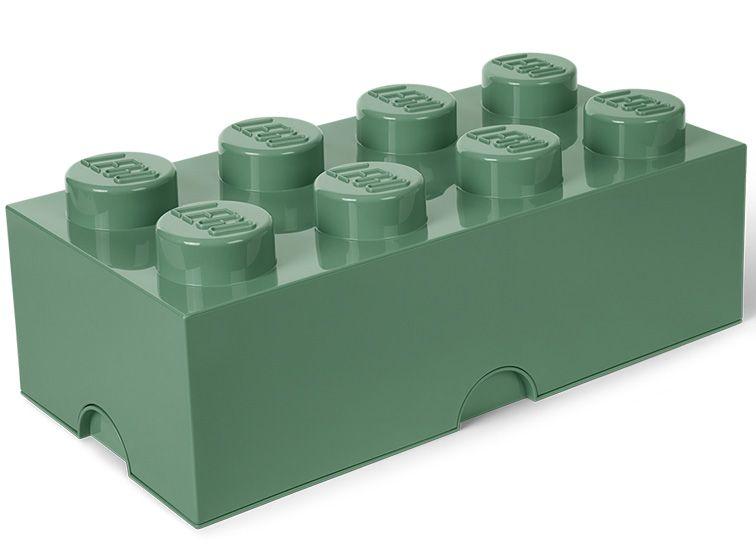 Cutie depozitare Lego 2x4 verde masliniu