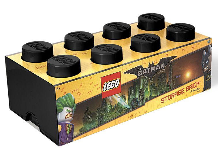 Cutie depozitare Lego Batman 2x4 negru