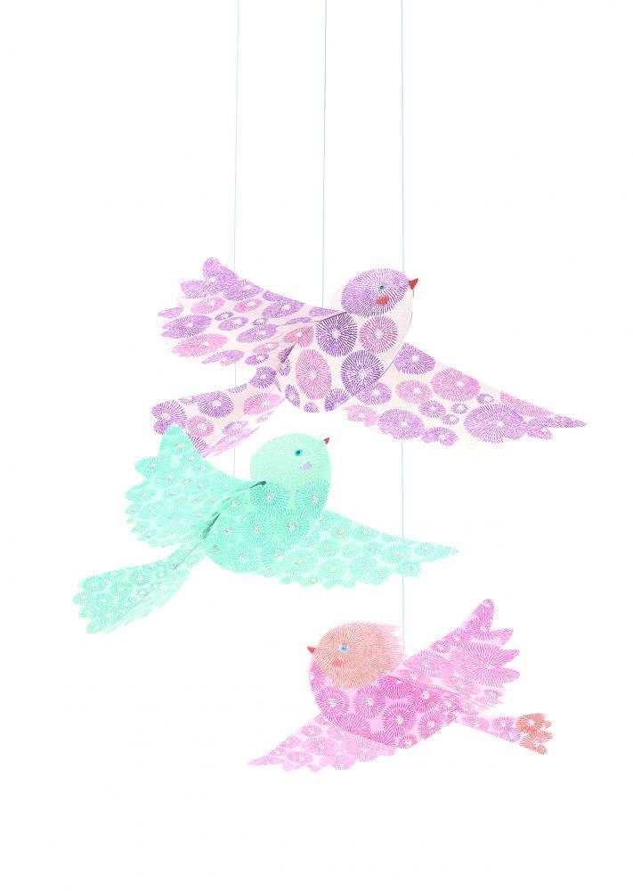 Decoratie camera copil pasari