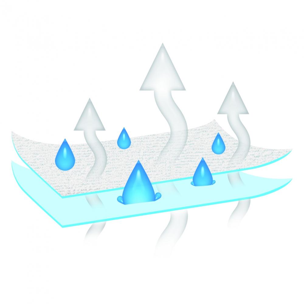 Husa impermeabila pentru saltele Frotte 70x140cm Baby Matex Blue 24
