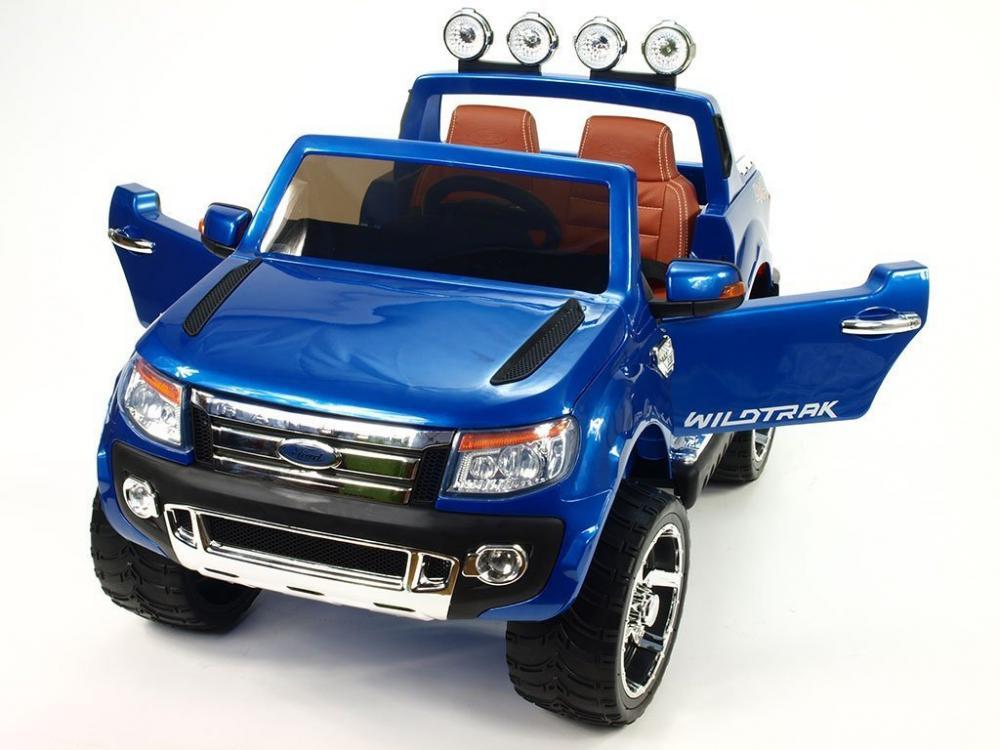 Masinuta Electrica Ford Ranger Cu Roti Din Cauciuc 12v Bleu