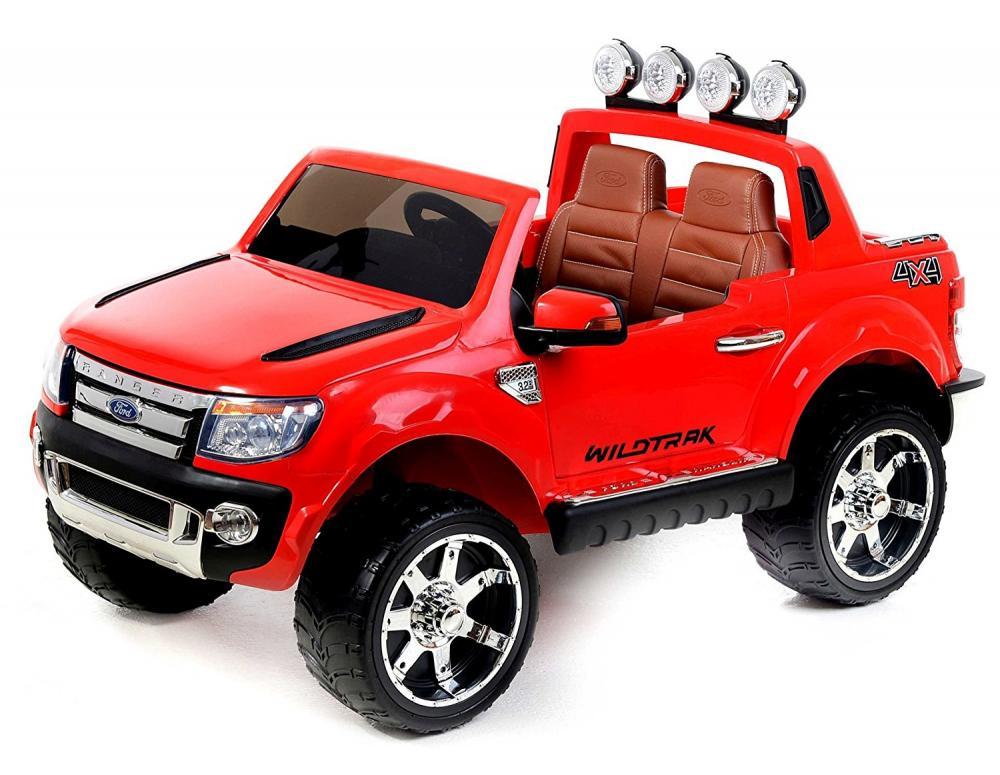Masinuta Electrica Ford Ranger Cu Roti Din Cauciuc 12v Rosu