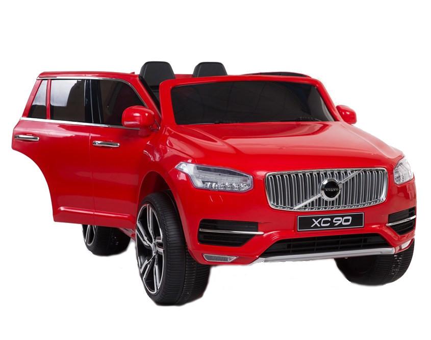 Masinuta Electrica Cu Scaun De Piele Volvo Xc90 Rosie