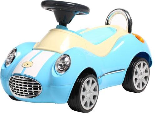 Masinuta fara pedale cu roti din cauciuc Super Rider Blue
