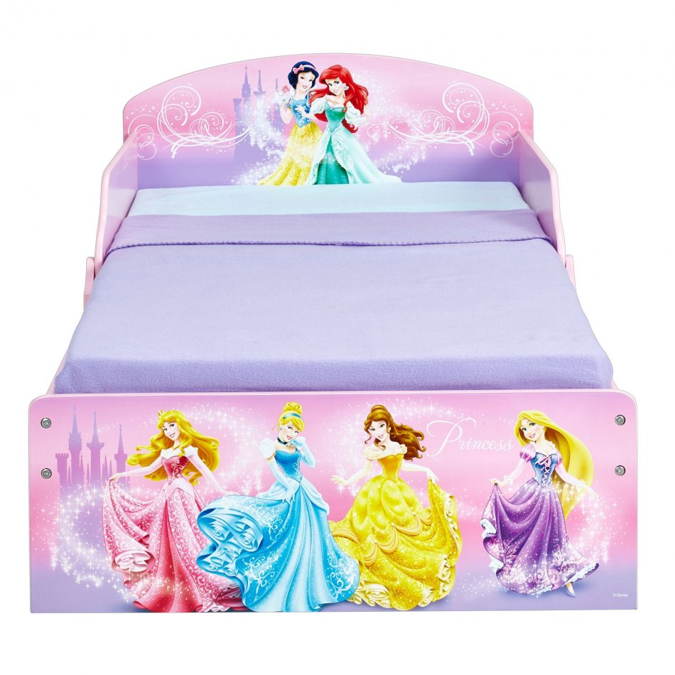 Pat Disney Princess cu spatiu depozitare