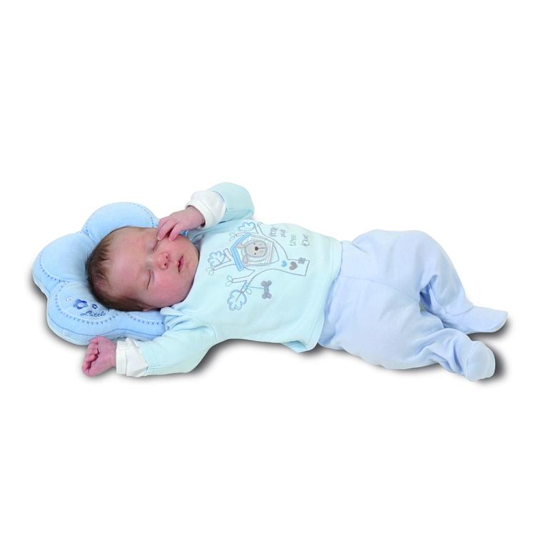 Perna pentru formarea capului bebelusului Baby Matex Flor Blue