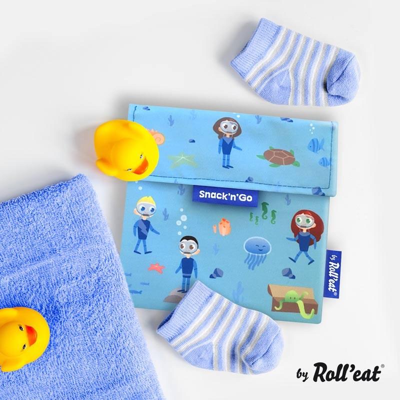 Gentuta reutilizabila pentru gustari Snack n Go Kids Ocean imagine