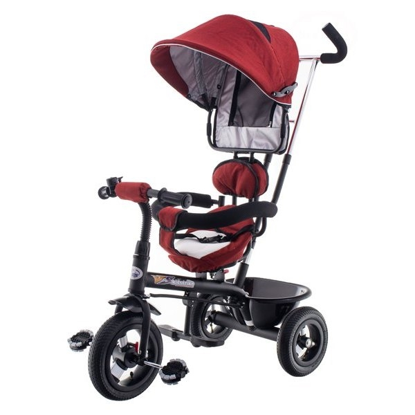 Tricicleta cu scaun rotativ EURObaby T306E-1 rosu