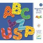 Litere magnetice 38 colorate pentru copii