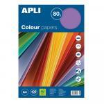 Hartie colorata Apli A4 80g/mp 5 x 20 culori fluorescente