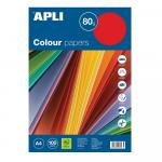 Hartie colorata Apli A4 80g/mp 5 x 20 culori intense