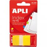 Index Apli Pop-Up galben 25x45mm 50 file
