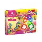 Joc magnetic educativ de constructie 3D Magspace 36 piese Colorful World Set