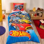Lenjerie de pat Tac Disney Hot Wheels