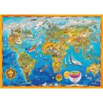 Puzzle 1000 piese Harta Lumii