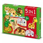Puzzle 5 in 1   Zoo