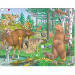 Puzzle Animalele din Padure, 29 Piese Larsen LRFH36