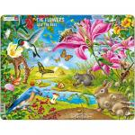 Puzzle Flori si Albine, 55 Piese Larsen LRNB4-GB