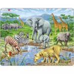 Puzzle Savana Africana, 65 Piese Larsen LRFH9