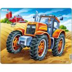 Puzzle Tractor, 37 Piese Larsen LRUS4