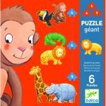 Puzzle gigant Djeco animale slbatice
