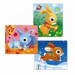 Set puzzle-uri evolutive Djeco iepurasi