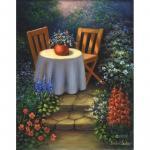 Set pictura pe panza  Masa din gradina