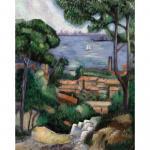 Set pictura pe panza   Vila pe coasta  LEstaque a villa