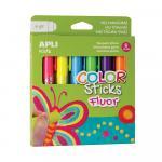 Tempera solida 10g 6 culori fluorescente asortate