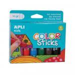 Tempera solida colorata 10g 6 culori asortate
