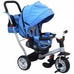Tricicleta cu spatar rabatabil Extra Comfort Travel Blue