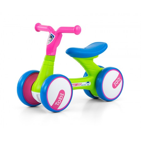 Bicicleta fara pedale Tobi Pink-Green